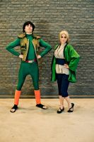 Proud Gai to pose with fifth Hokage! by CycloneXHTC