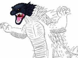 Unfinished Drawings: GOJIRA COLORED by TheIransonic