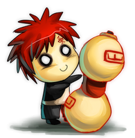 Gaara Chibi by GlassPanda