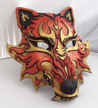 Snarling Sun Wolf- Mask by Namingway