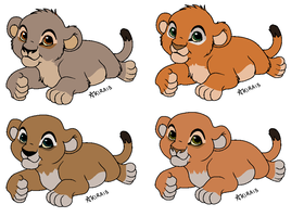 Rokudo x Nyla Adoptable Cubbies by snails1000