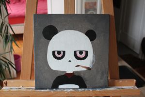 Drugged panda by Boo-s