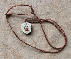 Coyote and Antler necklace by lupagreenwolf