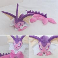 27 inch Vaporeon Beanie - Commission Plushie by tiny-tea-party