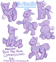 1 PRE-POSE PONY COMMISSIONS [CLOSED] by AlealiaKitsune