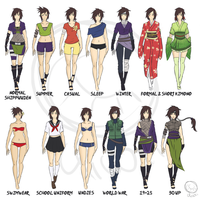 Sophie Shinozuka: Clothing References by MhhKiwii