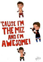 Chibi WWE The Miz by CharismasXe