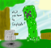 Creeper be Sad by Weaselx25