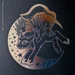 Princess Luna Foil Print Close up View by GothyBeans