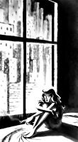Girl by the window by ThreeEyesWorm