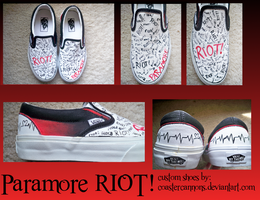 Paramore Custom Shoes by lecairde