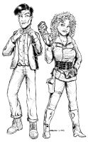 11th doctor and River Song by bodyslam1975