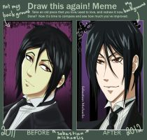 sebastian michaelis before and after meme by stephainestarfire