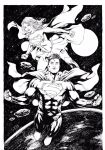 Superman and Supergirl by Leomatos2014