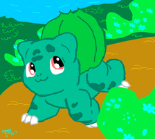 A Wild Bulbasaur Appeared! by autobotchari