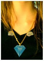 Winged Diamond Necklace by deconstructedstars