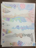 Art Class Drawing I - Negative Spaces and Life by Tamishii