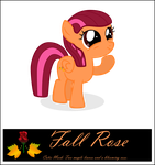 OC Pony Fall Rose by RedmondRoshi