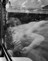 Train journey X by GreenDrop