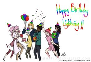 Lightning's Birthday 2014 by DrawingArt23