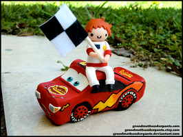 Lightning McQueen Cake Topper by GrandmaThunderpants