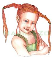 Pippi Longstocking by MariliaZo