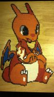 Moe Charizard (mini hama beads) by ericgant