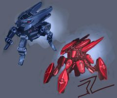 4 Legged Mech Painting by dimodee