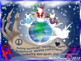 Holiday Cats of the Peace world by HalloDream