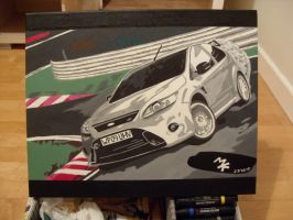 Ford Focus RS Painting 1 by Fetid-Wreck