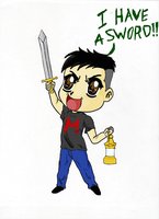Markiplier Has A Sword!! by KICKxxASSxxNINJA