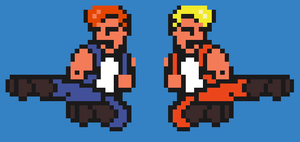 Double Dragon Billy and Jimmy by SuperKB