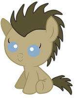 Dr Whooves/time turner  foal baby version by Kanske-2099