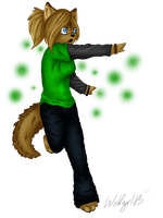 Wolfy Me Colored by Wolfgrl13