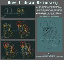How I sorta draw Brineary by Herobrineing