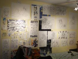 My OLD Art Wall! by Jailboticus