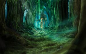 Forest Godess by Borrden