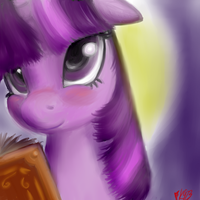 Twilight Sparkle test paint by Bloodkiaser923