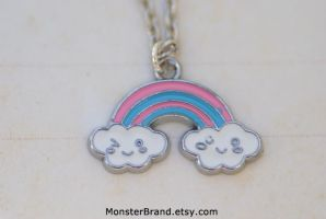 Kawaii Rainbow Necklace by MonsterBrandCrafts