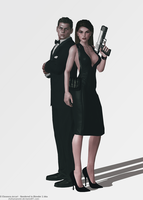 Mrs Croft and Mr Nivans by elyhumanoid