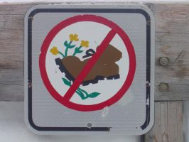 Don't Step on Flowers Sign by Eveco