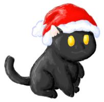 Christmas Coco Kitty 2006 by PewterKat