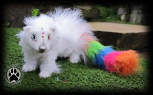 SOLD Chroma the colour pot ferret poseable artdoll by CreaturesofNat