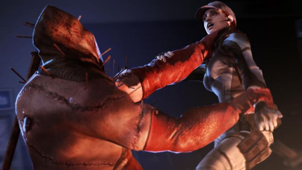 Executioner choking Jill by The-Combine