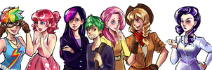 Human!MLP+Spike by incaseyouart