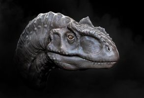 Allosaurus Sculpt by 89as13