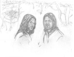 Aragorn and Boromir by rstrider9