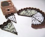 1-3 Chocolate Tart Slices by Snowfern