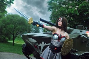 Injustice cosplay Wonder Woman Soviet Union by Nemu013