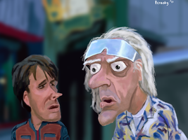 Marty Mcfly and Doc Brown by rcrosby93